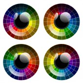 Vector abstract colorful palette eye — Stockvector