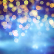Blue Festive Christmas background. Abstract background with bokeh defocused lights and stars — Stock Photo #68408613