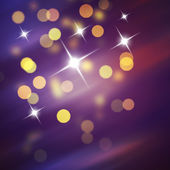 Purple Festive Christmas background. Abstract background with bokeh defocused lights and stars — Foto de Stock