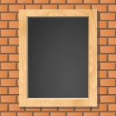 黑板在砖墙上,矢量图 — 图库矢量图片