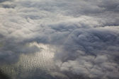 Sky with clouds from the top — Stock Photo