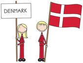 Danish flag — Stock Vector