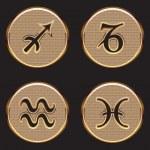 Golden Zodiac Signs — Stock Vector #58216019