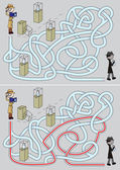 Detective maze — Stock Vector