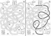 Dog maze — Stock Vector