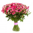 Big flower bouquet from pink roses isolated on white background. — Stock Photo #68508493