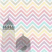 Birdcage chervon background — Stock Photo