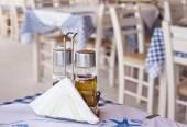 Traditional greek taverna detail — Stock Photo