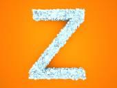 Lettera di cristallo - Z — Foto Stock