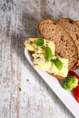 Sandwich with Roquefort cheese and dark bread	 — Stock Photo