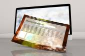 A modern All in one computer with a generic website — Stock Photo