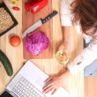 Internet Cooking — Stock Photo #69647471
