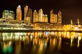 Puerto Madero in Buenos Aires at night — Stock Photo