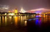 Cologne at night — Stock Photo
