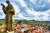 View on Krumlov in Bohemia — Stock Photo