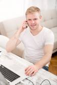 Working at home — Stock Photo