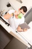 Coffee and Tablet PC — Stock Photo