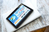Stock market trading app on a Tablet PC — Zdjęcie stockowe