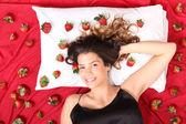 草莓床 — 图库照片
