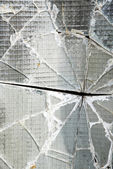 Shattered security glass — Stock Photo