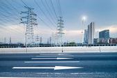 Pylon s dálnicí — Stock fotografie