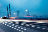 Pylon with highway — Stock Photo