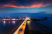 Bridge and city — Stock Photo
