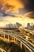 Interscambio di Shanghai — Foto Stock