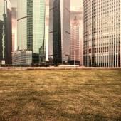 Şehir içinde çim — Stok fotoğraf