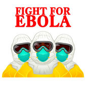 Fight for Ebola — Stock Vector