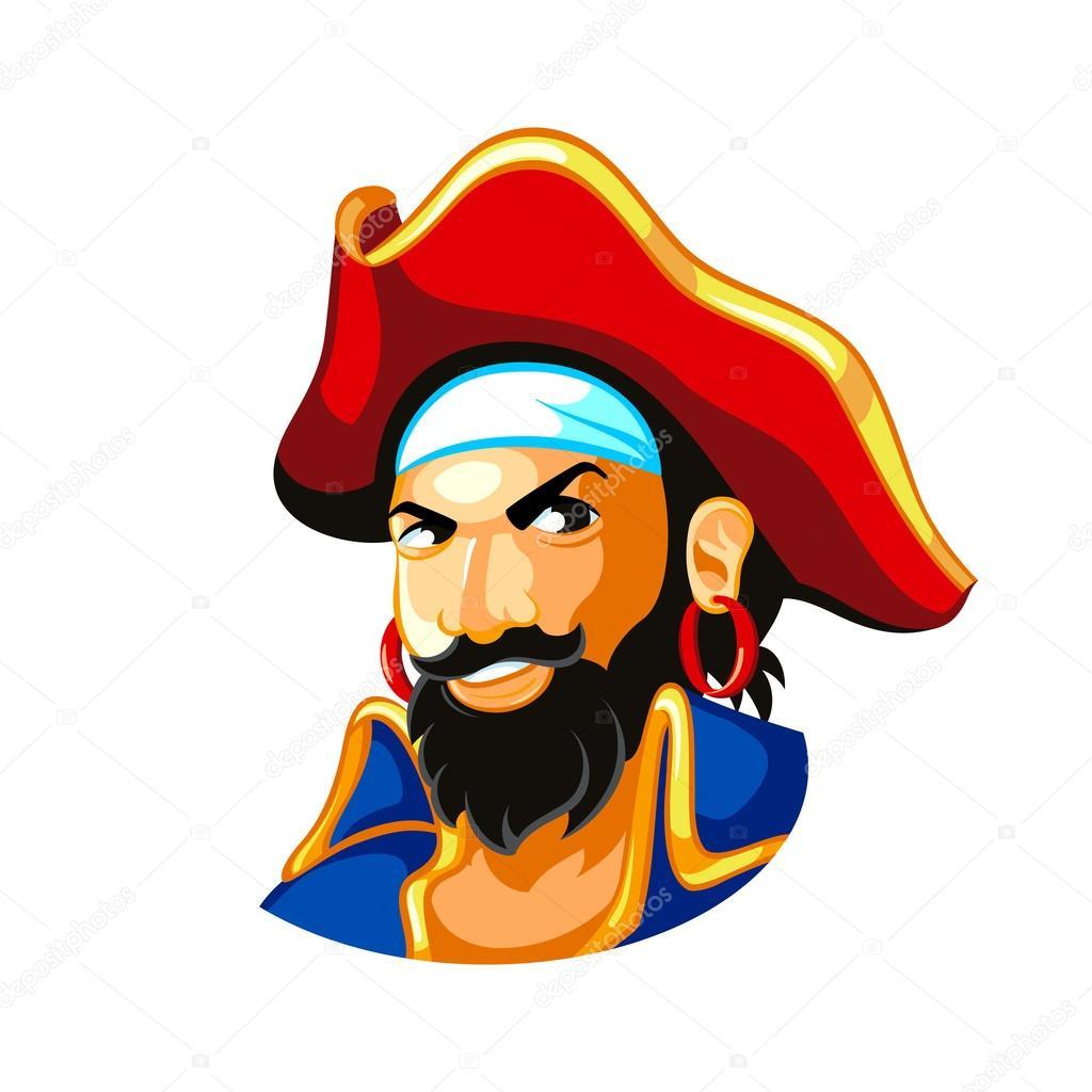 海盗船长 — 图库矢量图像08
