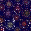 Seamless fireworks pattern — Stock Vector #60297357