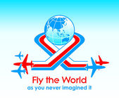 Fly around the world — Stock Vector