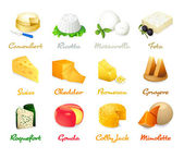 Cheese icons — Stock Vector