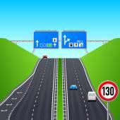 Autobahn infographics — Stock Vector