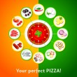Pizza toppings — Stock Vector #70204403