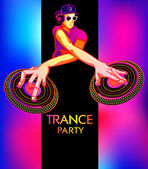 Trance party poster — Stock Vector