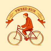 Tweed běh symbol — Stock vektor