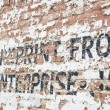 Old Weathered Brick Wall with Advertisement — Stock fotografie #54208977