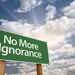 No More Ignorance Green Road Sign — Stock Photo #55935299
