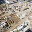 Aerial View of Construction Site with Extreme Bokeh. — Zdjęcie stockowe #61734891