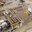 Aerial View of Construction Site with Extreme Bokeh. — Fotografia Stock  #61734909