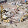 Aerial View of Construction Site with Extreme Bokeh. — Zdjęcie stockowe #61734923