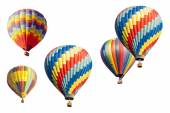 A Set of Hot Air Balloons on White — 图库照片