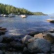 Beautiful Clear Water Shoreline of Lake Tahoe with Natural Audio in the Background — Stock Video #68201285