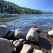 Beautiful Clear Water Shoreline of Lake Tahoe with Natural Audio in the Background — Stock Video #68201729