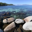 Beautiful Clear Water Shoreline of Lake Tahoe with Natural Audio in the Background — Stock Video #68201939