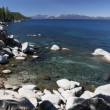 Beautiful Clear Water Shoreline of Lake Tahoe with Natural Audio in the Background — Stock Video #68202079