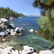 Beautiful Clear Water Shoreline of Lake Tahoe with Natural Audio in the Background — Stock Video #68202223