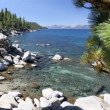 Beautiful Clear Water Shoreline of Lake Tahoe with Natural Audio in the Background — Stock Video #68202283